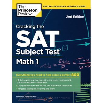 Princeton review tous les produits fnac cracking the sat subject test in math 1 2nd edition fandeluxe Choice Image