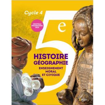 Histoire, Géographie, EMC 5ème, Cycle 4