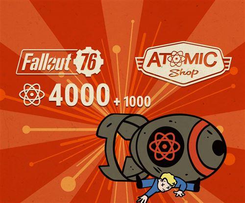 Code de téléchargement Fallout 76 4000 + 1000 Atoms Bonus PS4