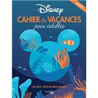 Cahier de vacances pour adulte Disney 2020
