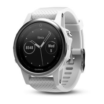 Multisports Smart Watch Garmin Fenix 5S HR Silver met witte band