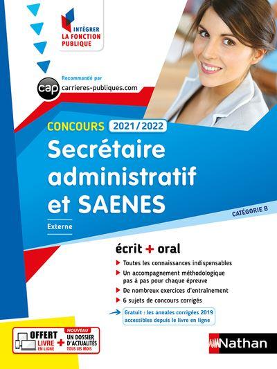 Concours Secrétaire administratif et SAENES 2020 - 2021 - CAT B N01 (IFP) 2020