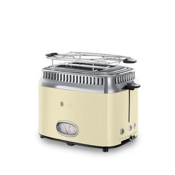 Grille-pain 2 fentes Russell Hobbs Retro Crème Vintage 21682-56 1300W