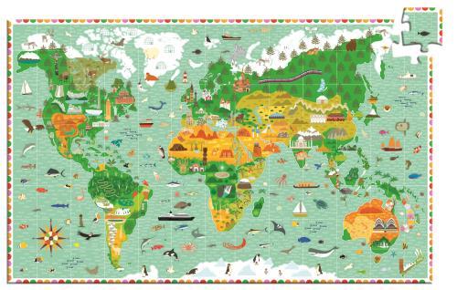 Puzzle d'observation 200p Les monuments du monde Djeco