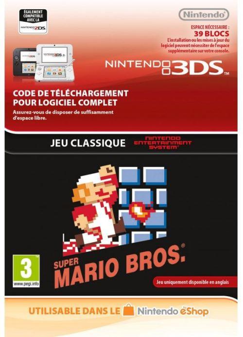 Code de téléchargement Super Mario Bros. Nintendo 3DS