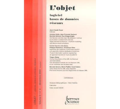L'objet : logiciel, bases de donnees, reseaux vol.6 n. 4/dec
