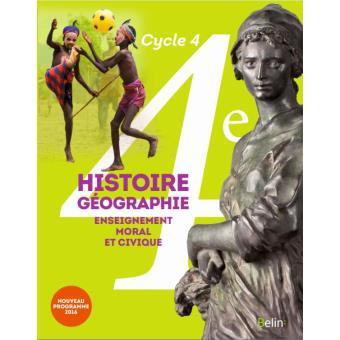 Histoire Geographie Emc 4e 2016
