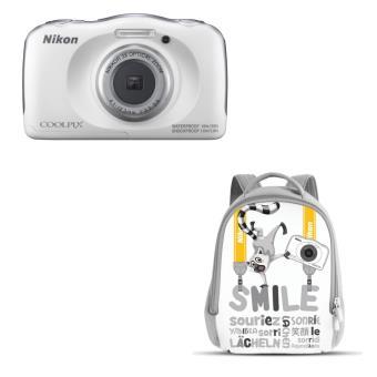 Compact Nikon Coolpix W100 Blanc + Sac à dos