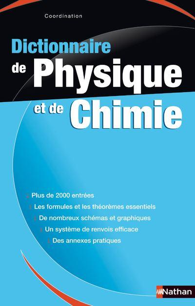 Dictionnaire physique chimie
