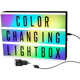 Colour changing lightbox A4