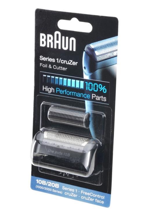 Tête de rasoir Braun grille et bloc couteaux 10B combi pack