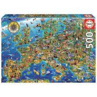 Educa Puzzel - 500 De Gekke Kaart van Europa