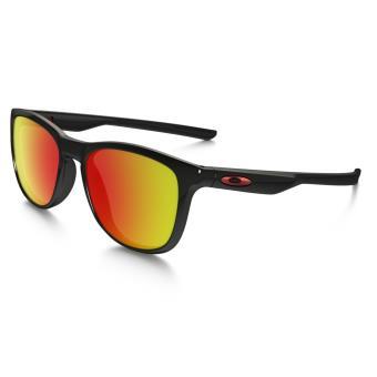fa2eb90297f83 Lunettes de soleil Oakley Trillbe X Polarized Noire et rouge ...