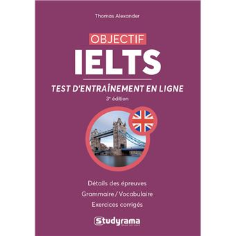 objectif ielts tests d 39 entra nement en ligne livre avec 1 cd rom livre cd rom thomas. Black Bedroom Furniture Sets. Home Design Ideas