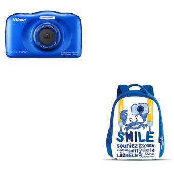 Compact Nikon Coolpix W100 Bleu + Sac à dos