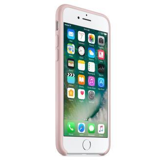 Coque en silicone Apple pour iPhone 7 Rose des sables