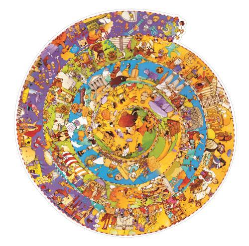Puzzle 350p Histoire Djeco + livret et poster