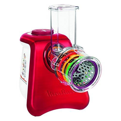 Râpe électrique Moulinex Fresh Express Max 5 en 1 DJ812510 Blanc et Rouge