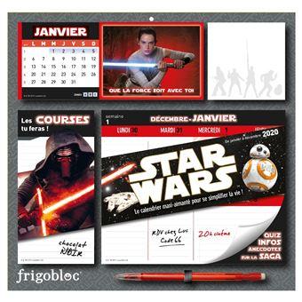 Frigobloc Star Wars 2020  - Calendrier d'organisation familiale  (de janv. à déc. 2020)