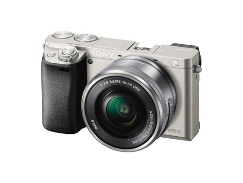 Hybride camera Sony A6000 zilver + objectief 16-50 mm PZ