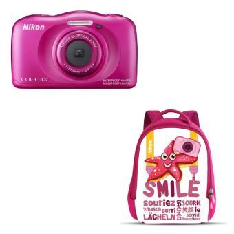 Compact Nikon Coolpix W100 Rose + Sac à dos