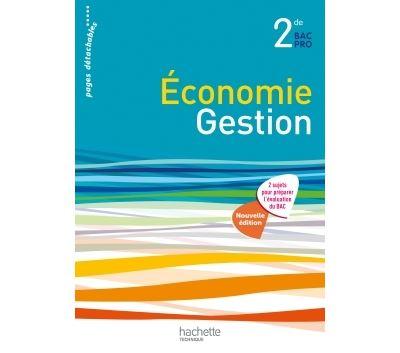 Economie et Gestion 2de Bac Pro - Livre élève