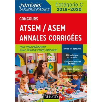 Concours ATSEM/ASEM - Annales corrigées - Concours 2019-2020