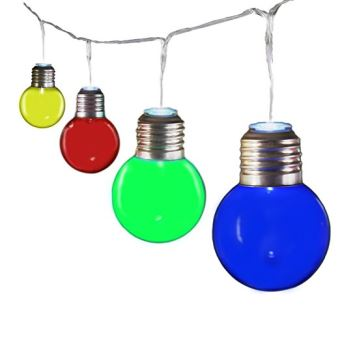 Lampe cordon ampoules colorees