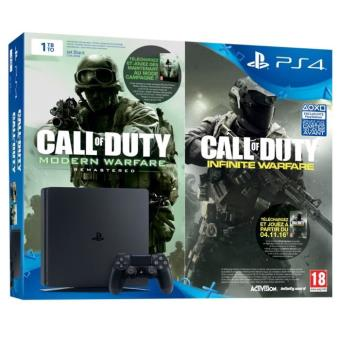 Console Sony PS4 1 To Slim Noir + Call of Duty Infinite Warfare Edition Legacy