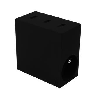 Multiprise Usbepower Hide + 3 USB et 2 Prises Noir