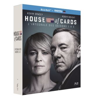 House of cardsHouse of Cards Saisons 1 à 5 Blu-ray