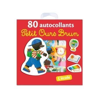 Petit Ours Brun80 autocollants Petit Ours Brun - L'école