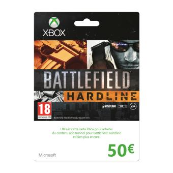 carte xbox live battlefield hardline 50 accessoire console de jeux achat prix fnac. Black Bedroom Furniture Sets. Home Design Ideas