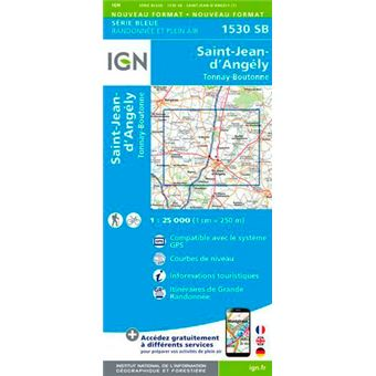 St-jean-d'angely tonnay-boutonne 1:25 000