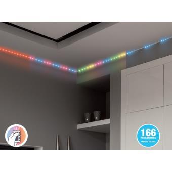 5 sur kit ruban lumineux led rvb digital xanlite 5m quipement lectrique pour luminaire. Black Bedroom Furniture Sets. Home Design Ideas