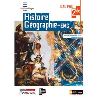 Histoire Geographie Emc 2eme Bac Pro Dialogues Livre Licence Eleve 2019