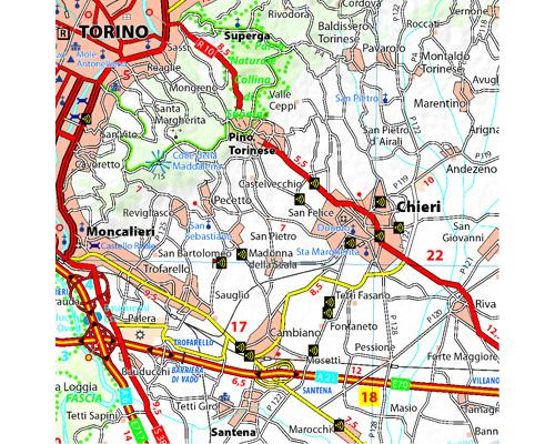 carte touristique piemont