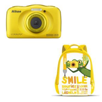 Compact Nikon Coolpix W100 Jaune + Sac à dos