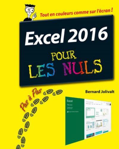 Excel 2016 Pas à pas pour les Nuls - 9782754087360 - 11,99 €