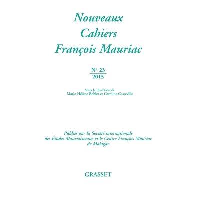 Nouveaux cahiers François Mauriac n°23
