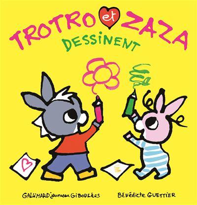 Trotro et Zaza dessinent