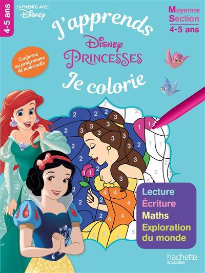 Disney Princesses -  : Les Princesses J'apprends tout en coloriant MS