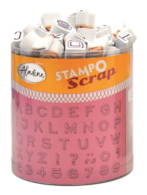 Kit créatif Aladine Stampo Scrap Mini Alphabet