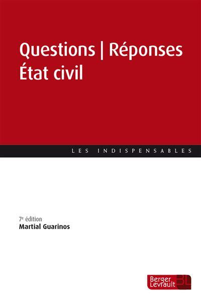 Question | Réponse État civil (6e éd.)