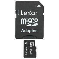 Carte mémoire Lexar Mobile microSD XC 64 Go + Adaptateur