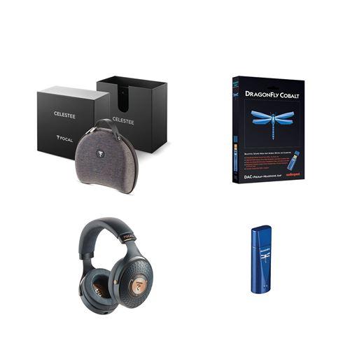 Un casque Focal Celestee + un ampli/DAC casque Audioquest Dragonfly Bleu cobalt