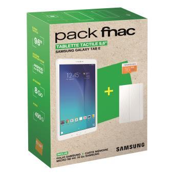 5 sur pack fnac tablette samsung galaxy tab e 9 6 8 go. Black Bedroom Furniture Sets. Home Design Ideas