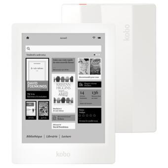 Liseuse numérique Kobo by Fnac Aura HD, Blanc