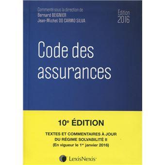 Code des assurances 2016