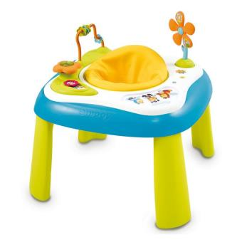 table d 39 activit s smoby cotoons youpi baby bleu jeux d. Black Bedroom Furniture Sets. Home Design Ideas